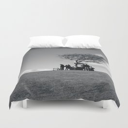 at the meeting place... Duvet Cover