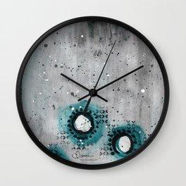 Charcoal Circles Low Wall Clock