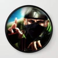 kakashi Wall Clocks featuring Kakashi sensei by Shibuz4