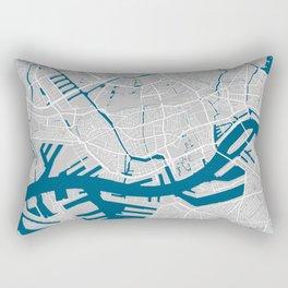 Rotterdam city map grey colour Rectangular Pillow
