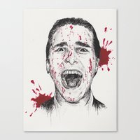 american psycho Canvas Prints featuring American Psycho by Carrie Anne Hudson