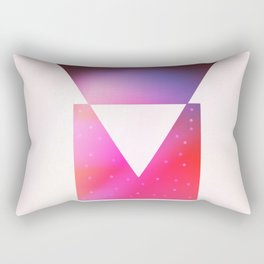 Triangle meets square geometric composition Rectangular Pillow