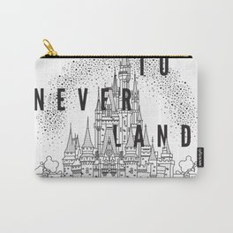 Off to Neverland: Black & White Carry-All Pouch