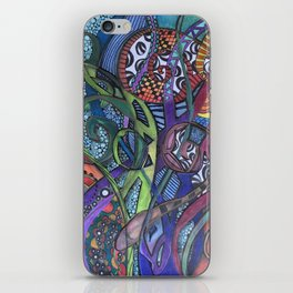 Jungle Facets - Mixed Media Original Art iPhone Skin