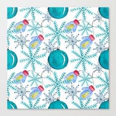 Blue Snowflakes #3 Canvas Print