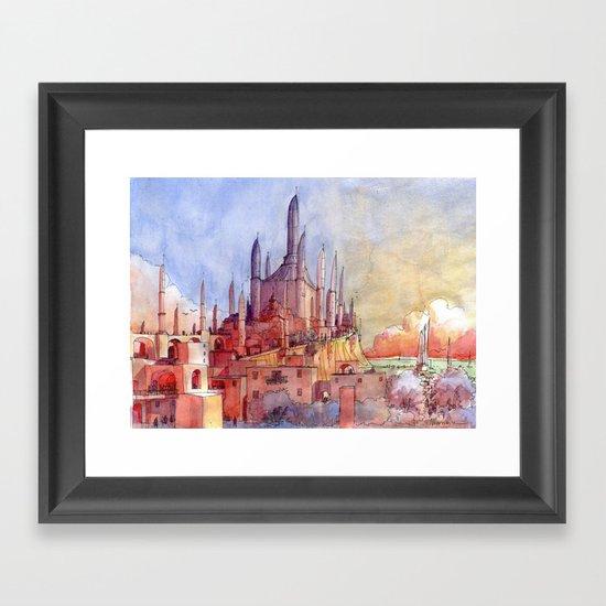 Tempio sul mare Framed Art Print