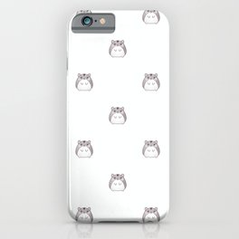 Cute Hamster Pattern Illustration iPhone Case