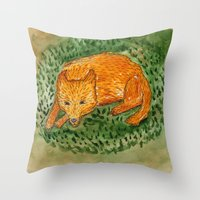 death cab for cutie Throw Pillows featuring cutie by 1ena