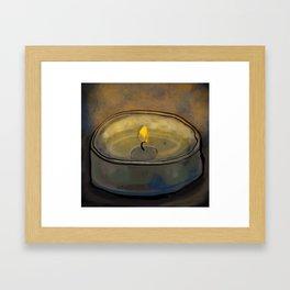 Tea Light Framed Art Print