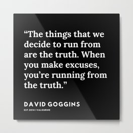 4 | David Goggins Quotes | 191105 Metal Print