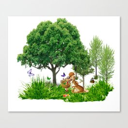 It's Easter Time Mr. Bunny Canvas Print