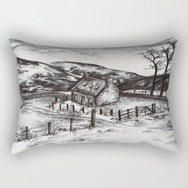 Barn in the hills Rectangular Pillow
