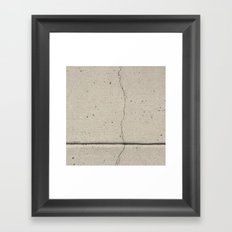 Real, Concrete, not Abstract Framed Art Print