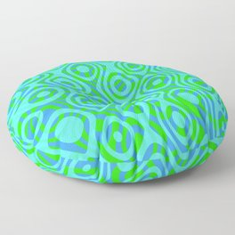 Mixed Polyps Green - Coral Reef Series 037 Floor Pillow