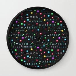FFVII Materia Pattern Wall Clock