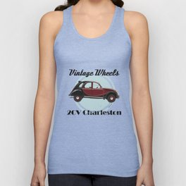 Vintage Wheels - 2CV Charleston Unisex Tank Top