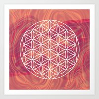 flower of life Art Prints featuring Life Flower by shutupbek