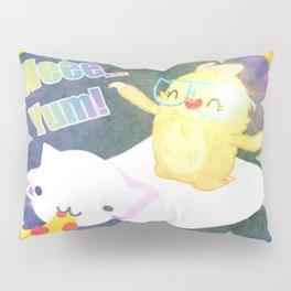 Sloth Cat Pizza Pillow Sham