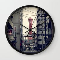 kobe Wall Clocks featuring Kobe Cables by Dora