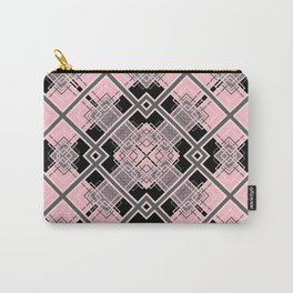 Geometric black and pink Carry-All Pouch