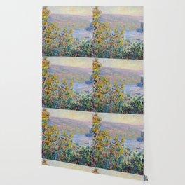 1881 Claude Monet Flower Beds At Vétheuil Wallpaper