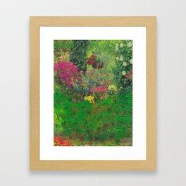 secret glitch garden Framed Art Print