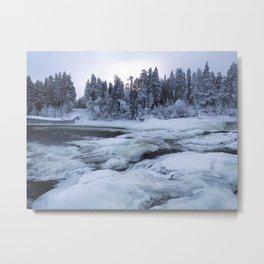 Stofrsen, biggest watterfal in Sweden Metal Print