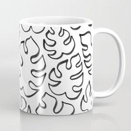 Mini Monstera Outline Coffee Mug