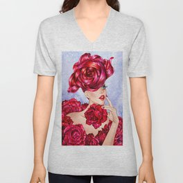 Rose Lover Unisex V-Neck