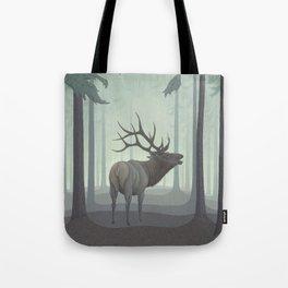 Forest Elk Tote Bag
