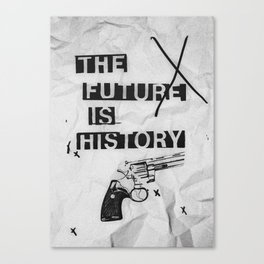 The Future Is History - Newspaper Canvas Print