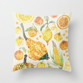 Harvest of Yellow - Neutral Throw Pillow