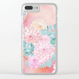 Gold dahlia bouquet #society6 Clear iPhone Case