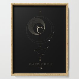 Capricorn Zodiac Constellation Serving Tray