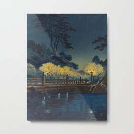 Tsuchiya Koitsu Benkei Bridge Vintage Japanese Woodblock Print Metal Print