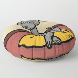 Weimaraner Floor Pillow