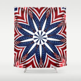 American Flag Kaleidoscope Abstract 2 Shower Curtain