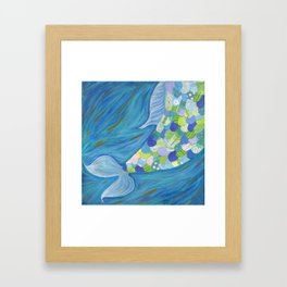 Mermaid Tail Framed Art Print