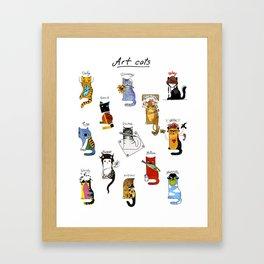 Legendary Art cats - Great artists, great painters. Framed Art Print