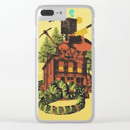 OLD TIMEY DARKNESS Clear iPhone Case