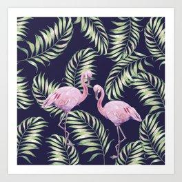 Flamingos #society6 Art Print