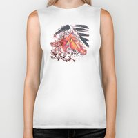carousel Biker Tanks featuring Carousel by bellevuetriangle
