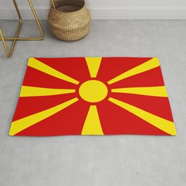 Flag of Macedonia - authentic (High Quality image) Rug