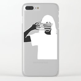Color Wipe Clear iPhone Case