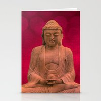 meditation Stationery Cards featuring meditation by hannes cmarits (hannes61)