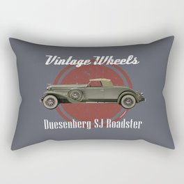 Vintage Wheels: Duesenberg SJ Roadster Rectangular Pillow
