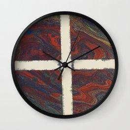 Dark Triangles Wall Clock