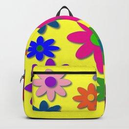 Flower Power, Cute Flowers, Pretty Colorful Flowers Backpack