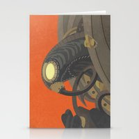 bioshock infinite Stationery Cards featuring SongBird - BioShock Infinite by LindseyCowley