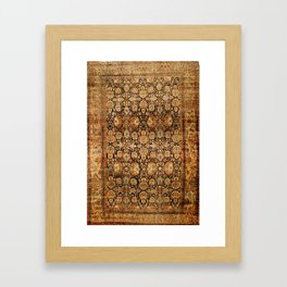 Antique Persian Malayer Rug Framed Art Print